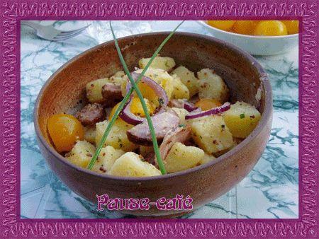 Salade de pommes de terre à la saucisse de Montbéliard