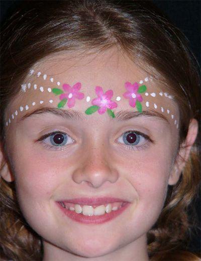 Trucco del viso per Carnevale per bambini da principessa n.2