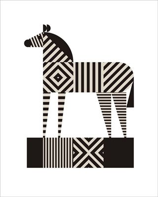 Zebra Stripe Mural - Greg Mably| Murals Your Way