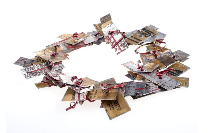 Monica Cecchi Necklace: Corrispondenza, 2014 Recycled tin ø 25 cm