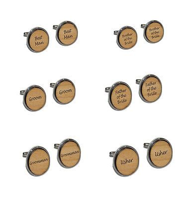 #Wedding cufflinks - real wood #inserts #engraved, groom, best man, usher, uncle,  View more on the LINK: 	http://www.zeppy.io/product/gb/2/151603743325/