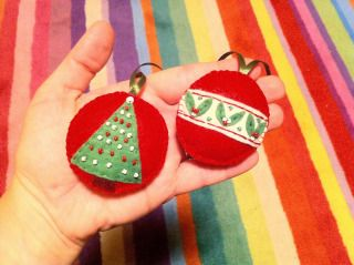 Felt Christmas handmade ornaments