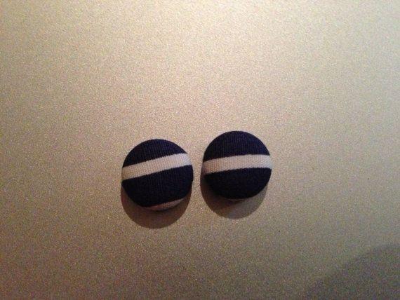 Mini Patterned Button Earrings by KatieHootie on Etsy, $5.00