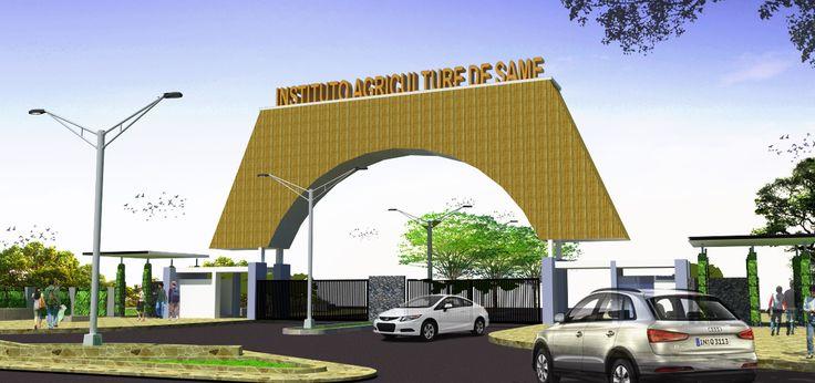design gate for Timor Leste College with motif secondary skin #gate #design #architecture #designTimorLeste