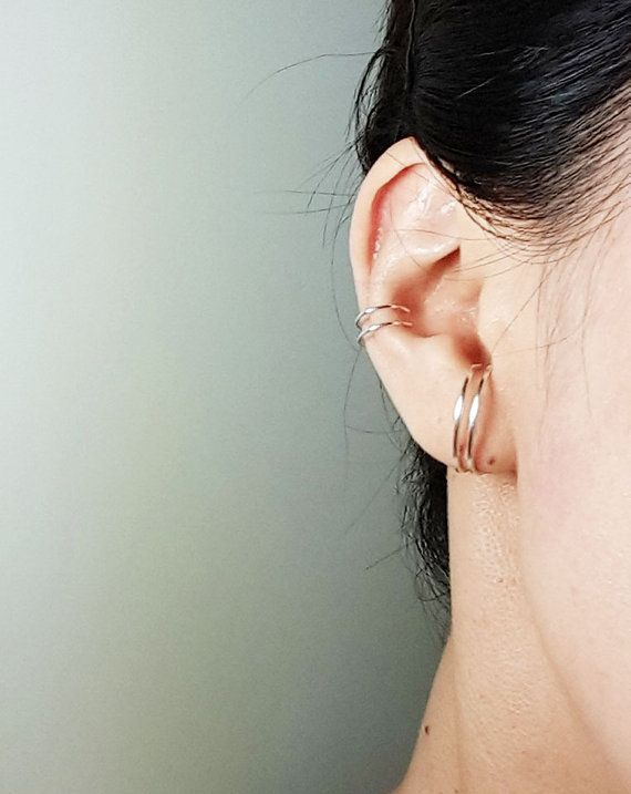 Double Ear Cuff Set One is pierced and the other by HesisJewelry
