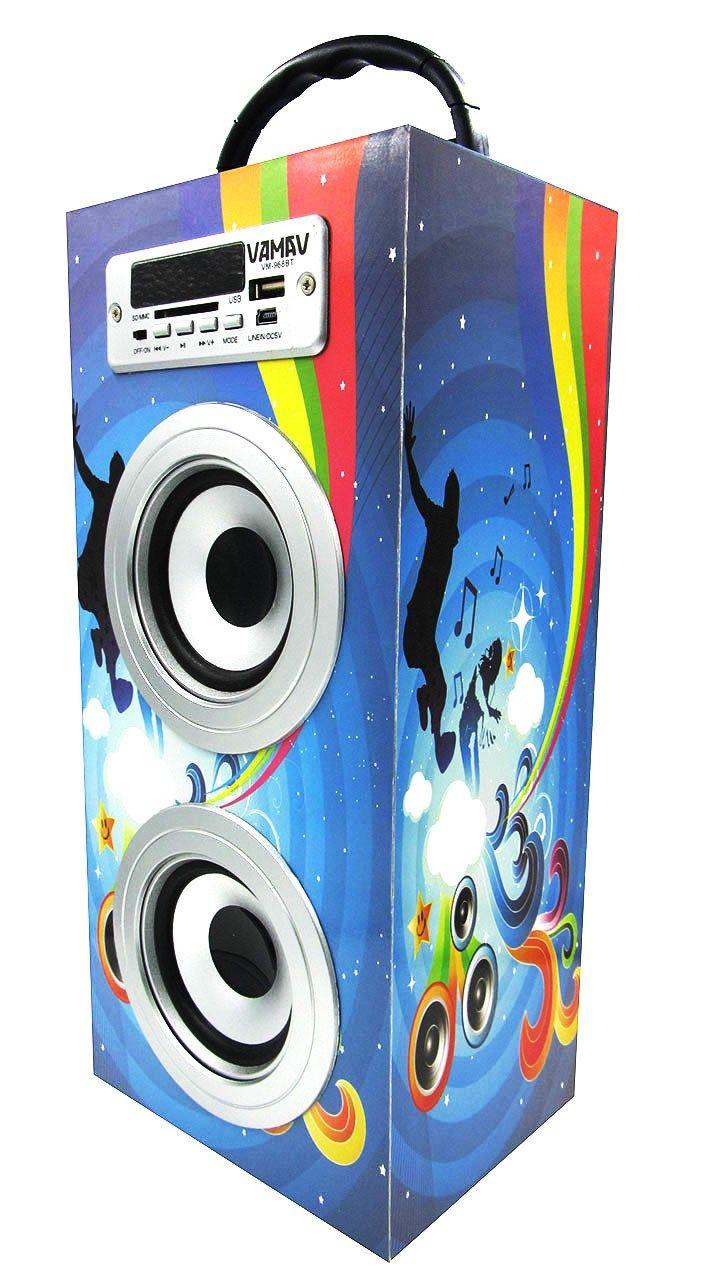 Altavoz Caja Portátil con Bluetooth, Radio, SD, USB, MP3, Inalámbrico y Con Batería Recargable 996117 - http://complementoideal.com/producto/audios/altavoz-caja-portatil-con-bluetooth-radio-sd-usb-mp3-inalambrico-y-con-bateria-recargable-996117/  -  Altavoz Portátil Bluetoothcon el que podrás escuchar toda tu música sin necesidad de cables y en cualquier lugar, conecta todos tus dispositivos mediante la tecnologíaBluetooth fácilmente y comienza a divertirt