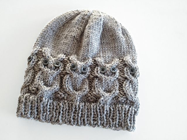 Knitting Pattern For Owl Beanie : Ravelry: Owl Hat pattern by Julie is Coco and Cocoa Knit. Pinterest Rav...