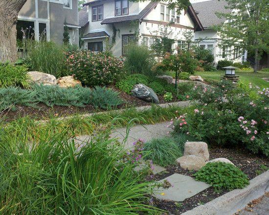 26 best curbside strip gardens images on pinterest for Curbside garden designs