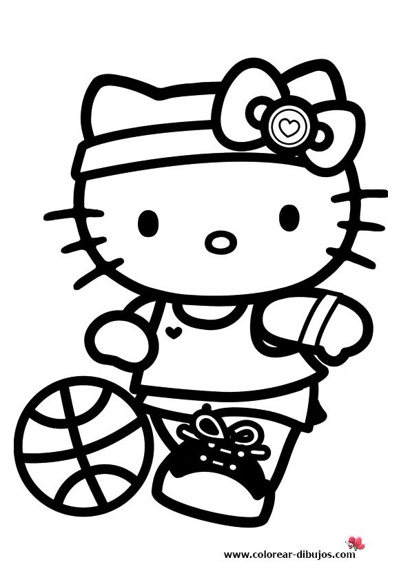 Hello kitty dress up coloring pages