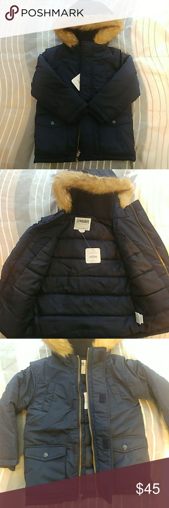 🌟Authentic Gymboree Boys Coat! Brand New!!! Boys Winter Coat!!! It's faux fur around the hood but its soft not hard. It's from Gymboree!!! Excellent Condition. Gymboree Jackets & Coats