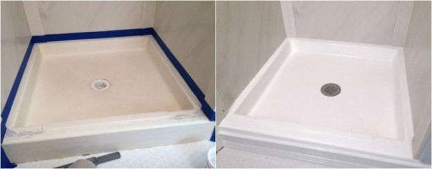 Before And After Painting Shower Pan Homeremodelingbeforeandafter