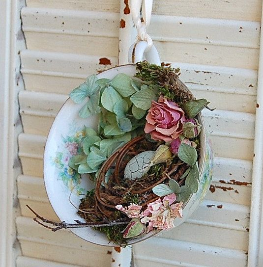 flower arrangements in a teacup - Google Search