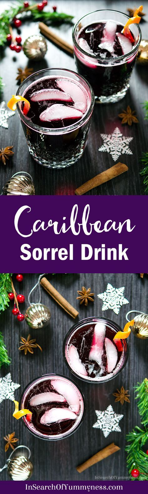 Sorrel Drink is a tangy, spice-infused beverage that is often served at #Christmas and New Year's in several parts of the Caribbean. Get the #recipe at InSearchOfYummyness.com