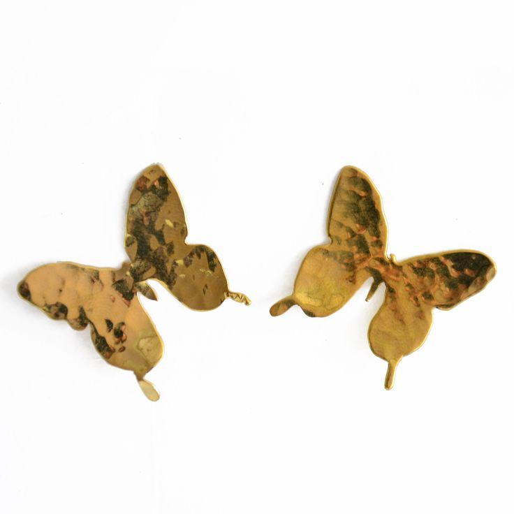 aretes de mariposa que puedes compra en http://www.martinpescador.com.co/
