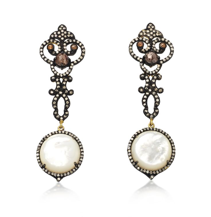 Baroque Mother of Pearl Earrings by Amrapali