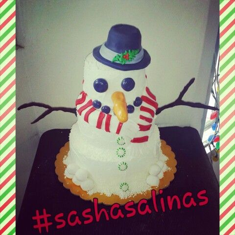 Frosty the Snowmen Cake  Buttercream Cake