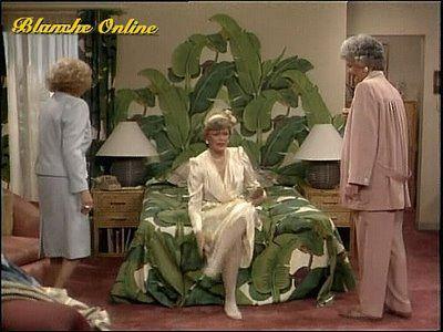 Golden Girls Blanche's bedroom-banana leaf-so hot right now.