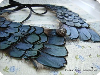 feather collar,feather necklace