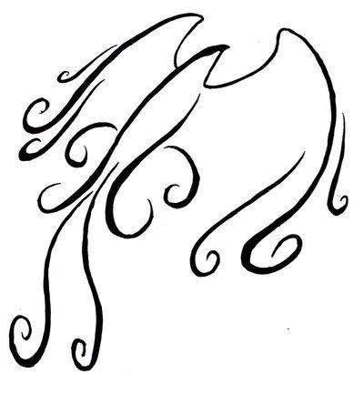 Swirly wind hawk tattoo by *TheMetasepia on deviantART