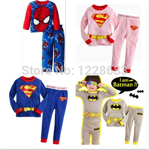 >> Click to Buy << Fantasia Infantil Kids Cotton Superhero Batman Superman Spiderman Suit Pajamas Costume For Girl Boy Fantasia Homem Aranha #Affiliate
