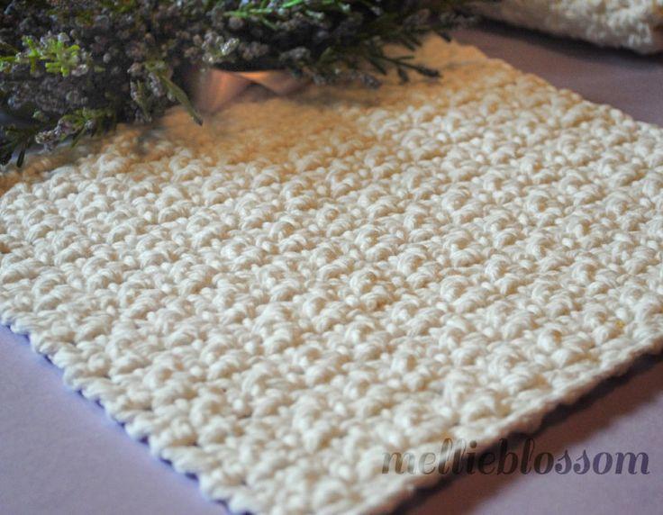 Padrão de pano de prato de crochê fácil grátis