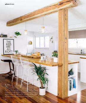 We could put boards over the joyce and pillar in the living room to create this same look?