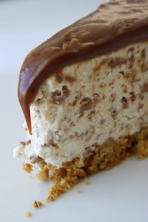 Chokladig cheesecake med tryffeltäcke