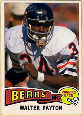 1975 Topps Walter Payton, Chicago Bears,  Football Cards That Never Were.