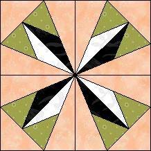 Block of Day for March 25, 2014 - Half Diamond Kaleidoscope