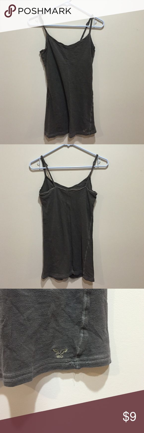 AE CAMI American eagle light brown CAMI. Bra shelf. Worn a few times but good condition American Eagle Outfitters Tops Camisoles