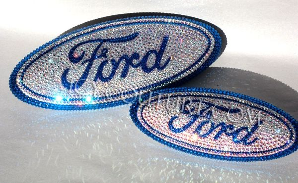 ICY-COUTURE.com: Read Reviews! Custom FORD Bling emblems - Pink, Blue, Black, Red, Crystal Clear - ANY Crystal Color! Lifetime Warranty on our work.