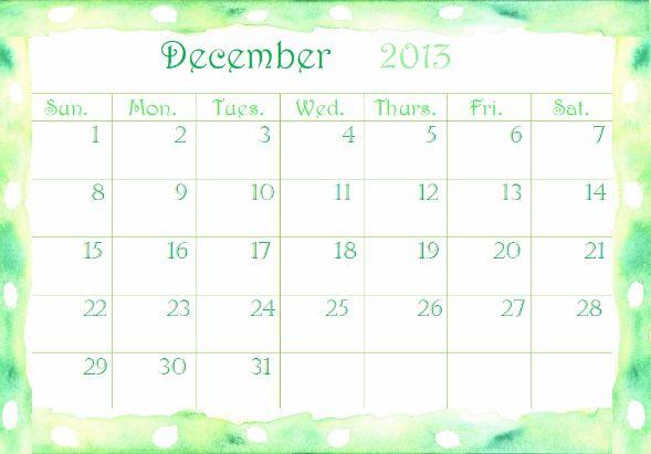 Free December 2013 Printable Calendar → http://www.embracinghome.com/december-calendar-2013-printable/