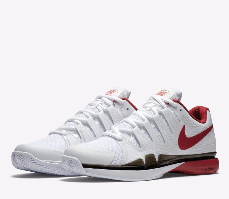 best service 69bdc c2384 ... Nike Zoom Vapor 9.5 Tour Mens Tennis Shoes 9 White Red Black 631458 160  Nike ...
