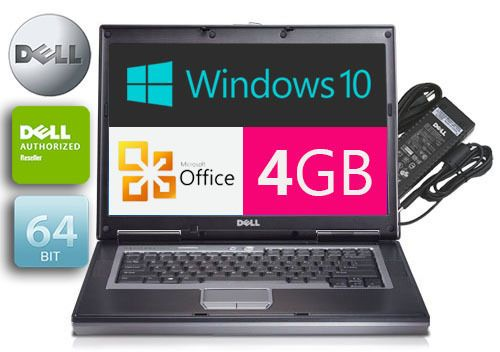 Dell Laptop Latitude Windows 10 PRO 4GB RAM OFFICE GOOD Battery Wireless #777