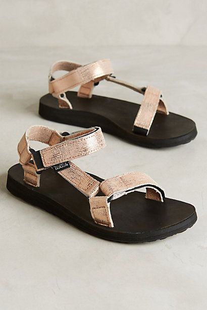 Teva Original Universal Metallic Sandals   #anthroregistry