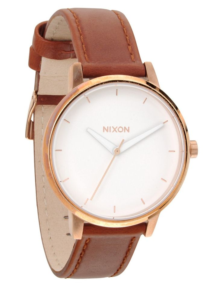 Nixon Kensington Leather Rose Gold / White - A108-1045