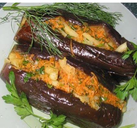 Баклажаны фаршированные овощами!