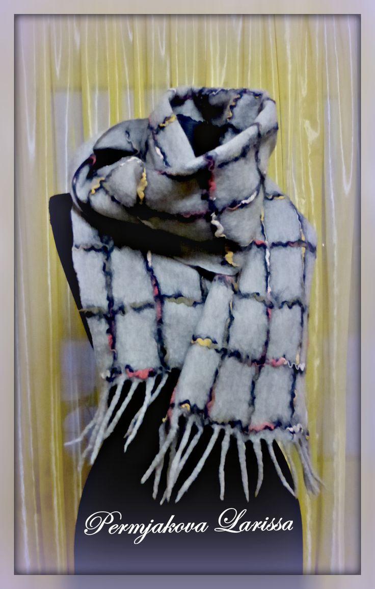 мужской валяный шарф