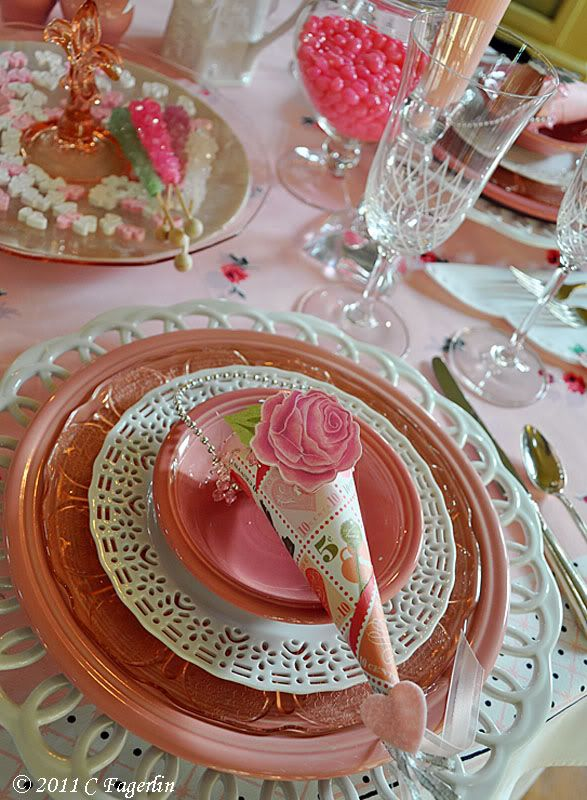 The Little Round Table: Pretty In Pink   Valentine  Tablescapewww.thelittleroundtable.com