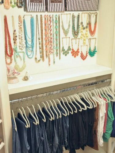 Organized and Pretty Closets - How to Organize Your Clothes - Good Housekeeping I spy Stella & Dot Jewelry! -Jenni B.