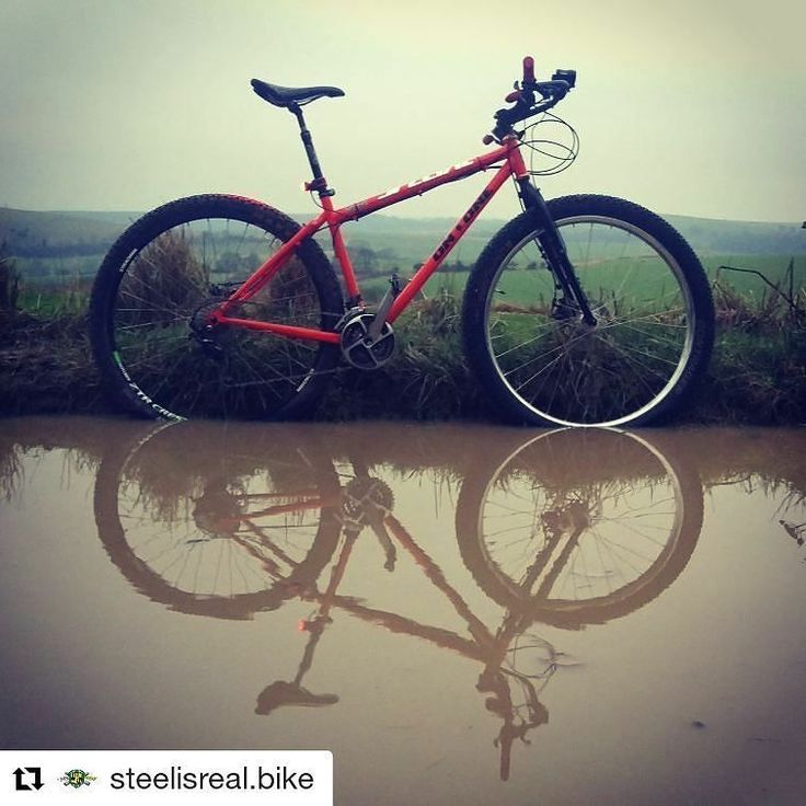 """#Repost @steelisreal.bike (@get_repost)  Morning all a quick introduction I'm @jimbosussexmtb and I'll be posting photos of the Stif Morf over the next few weeks while I'm out on the trail testing it. In the mean time here's my On One which I've ridden to work on today it's my """"spare"""" bikepacking bike. #29 #29er #onone #inbred @use_exposurelights #revo #dynamohub @intergalacticsurlybikes #rigid #mountainbike #mtb #handbuiltwheels #singletrack #mountainbikes #igbikes #ridewithaview…"""