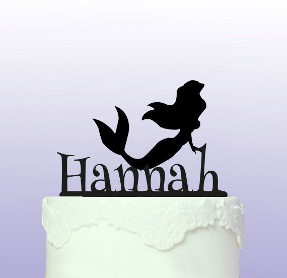 Personalised Little Mermaid Cake Topper