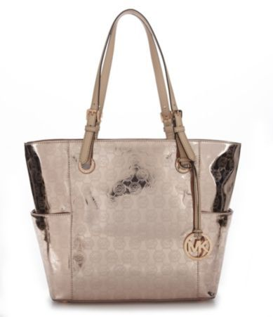 The Michael Kors Copper Metallic Tote Bag is a top 10 member favorite on  Tradesy.
