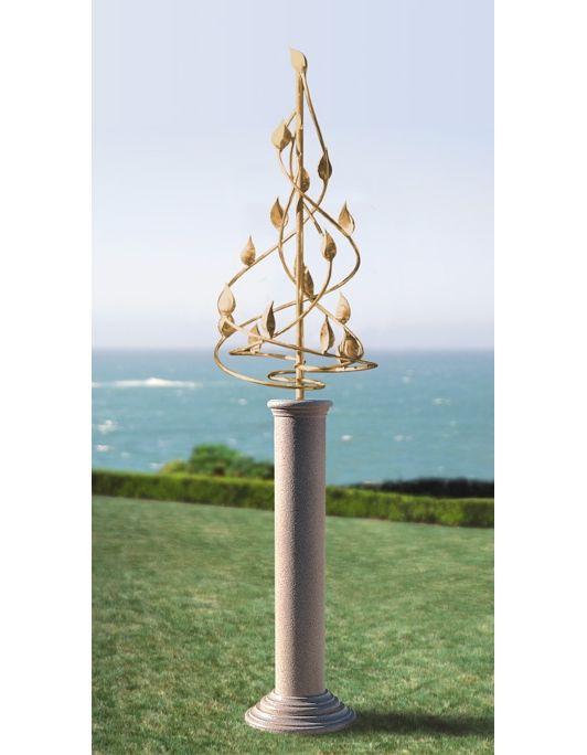 Helix Wind Sculpture On Pedestal Home And Garden Design