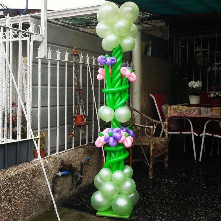 Pedestales de flores