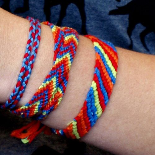 Diy friendship bracelets embroidery and