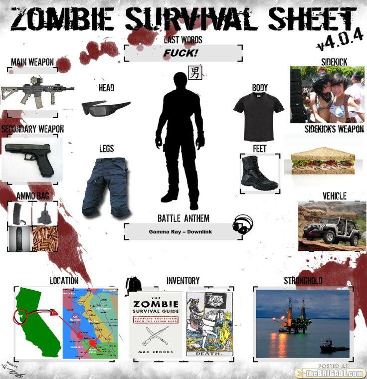Zombie Survival Guide Worksheet - Kidz Activities