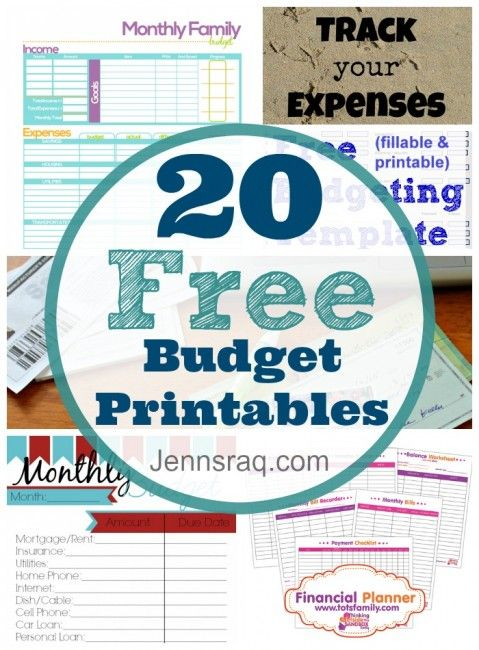 These 20 free budget printables will help you manage your money, save money, and take control of your spending to make this year your best yet! Take charge.