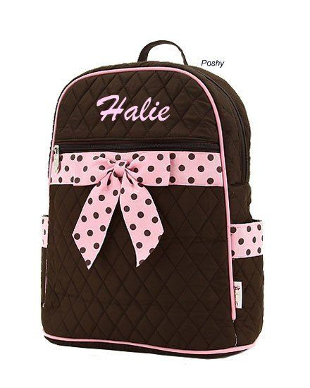 Hey, I found this really awesome Etsy listing at https://www.etsy.com/listing/74229695/personalized-kid-backpacks-in-brown-with