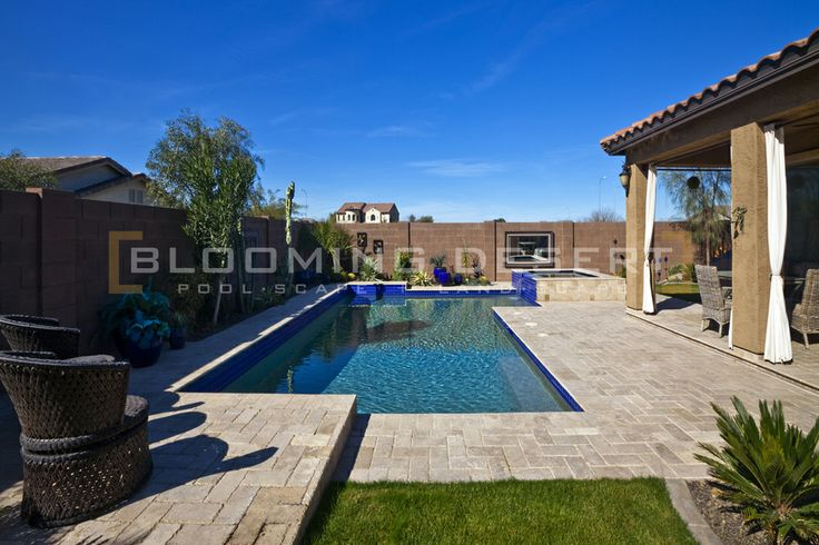 ramada pergola arbor, phoenix landscape idea, play pool and spa